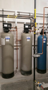 Water Treatment Filters and Tanks installed in a brewery