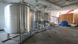 Freshly Delivered Brewery Tanks