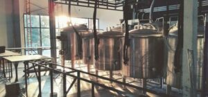 Beautiful rows of Tanks Efficiently Installed in Brewery