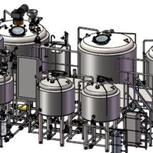 3d Brewhouse Mockup Design