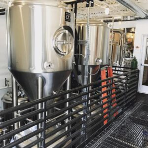 Custom Brewery Tanks Stacked and Installed in two Levels